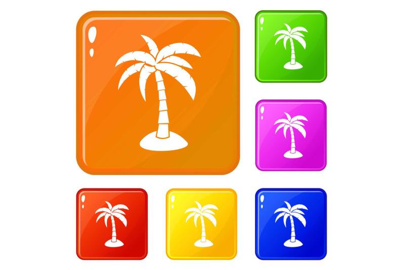 palm-icons-set-vector-color