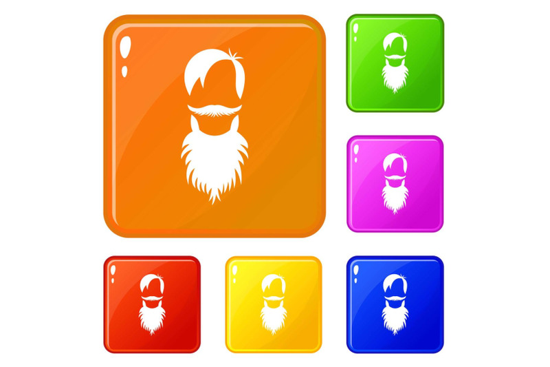 male-avatar-with-beard-icons-set-vector-color