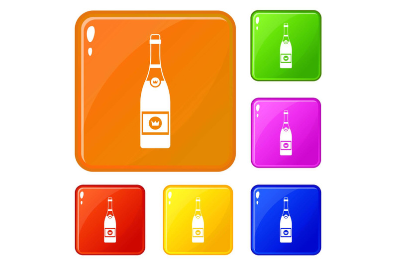 champagne-icons-set-vector-color