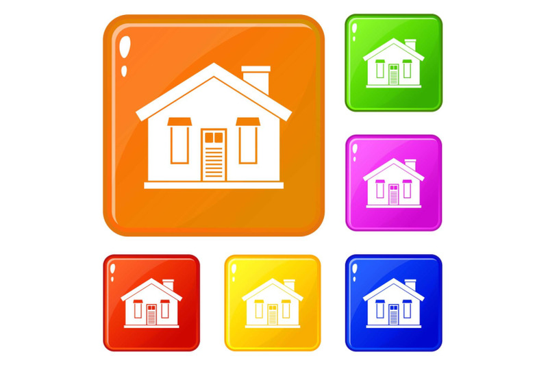 house-icons-set-vector-color