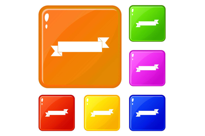 origami-ribbon-icons-set-vector-color