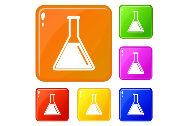 test-tube-with-oil-icons-set-vector-color