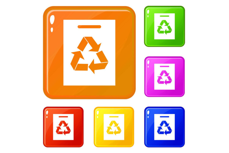 recycling-icons-set-vector-color