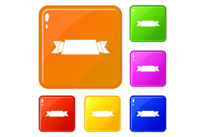 ribbon-banner-icons-set-vector-color
