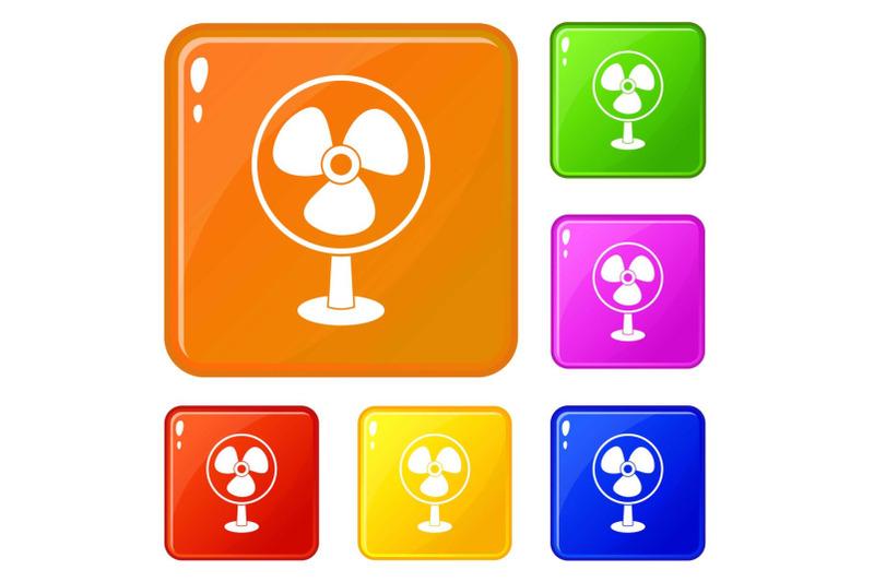 ventilator-icons-set-vector-color