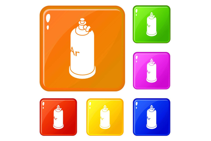welding-cylinder-icons-set-vector-color