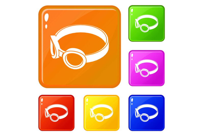 glasses-welding-mask-icons-set-vector-color