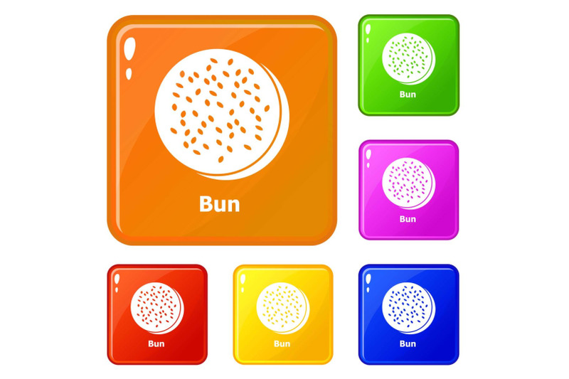 bun-icons-set-vector-color