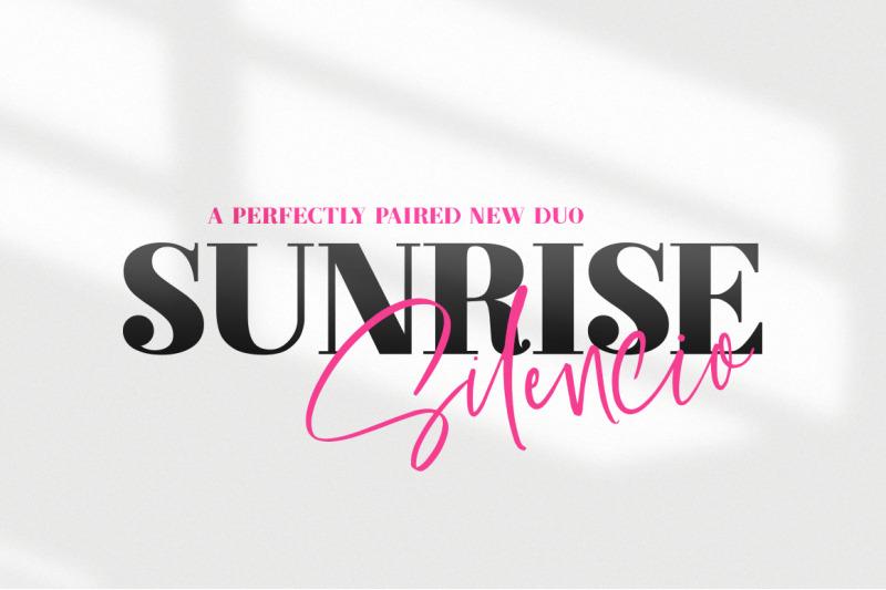 sunrise-silencio-font-duo
