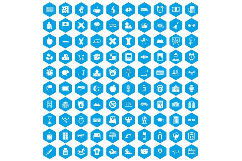 100-alarm-clock-icons-set-blue