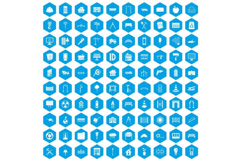 100-architecture-icons-set-blue