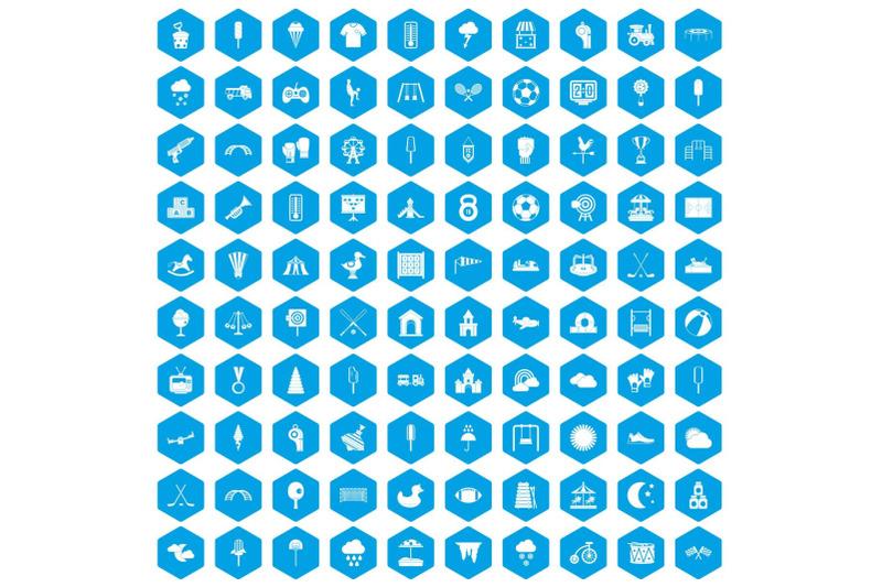 100-childrens-playground-icons-set-blue