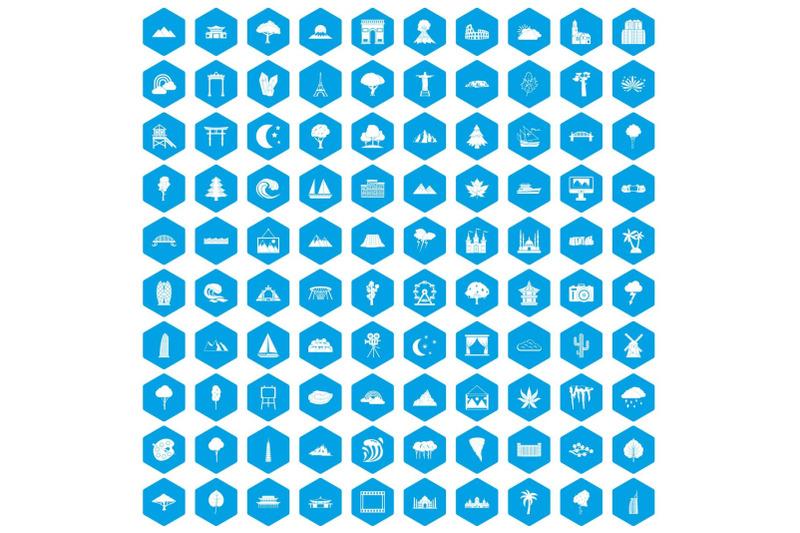 100-view-icons-set-blue