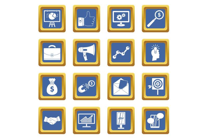 marketing-items-icons-set-blue
