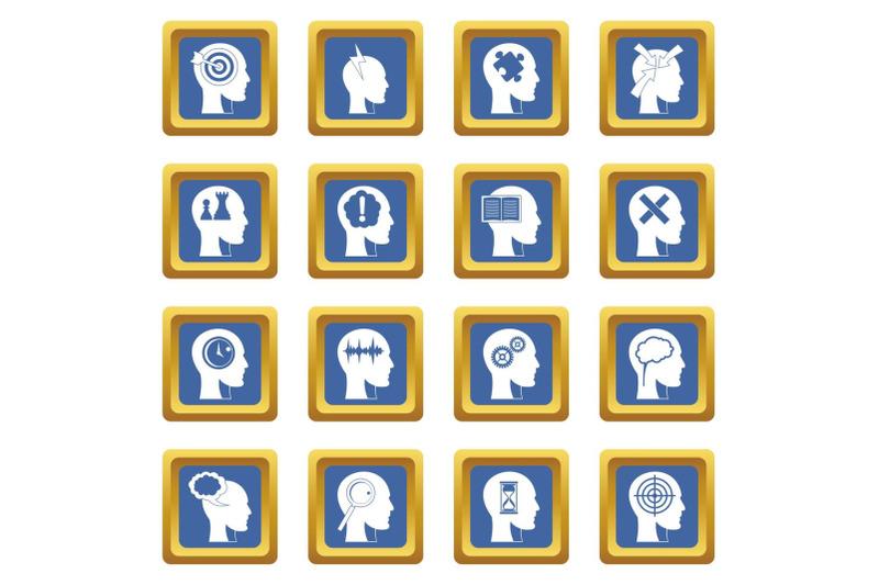 head-logos-icons-set-blue