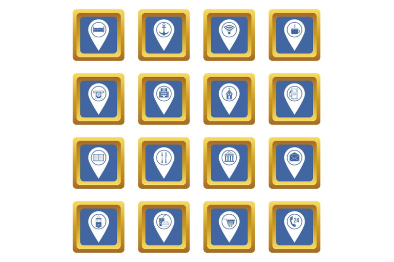 points-of-interest-icons-set-blue
