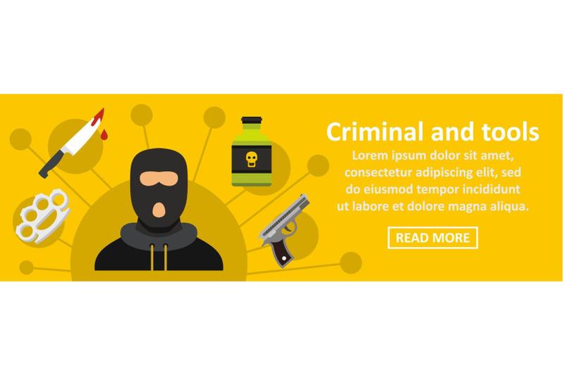 criminal-and-tools-banner-horizontal-concept
