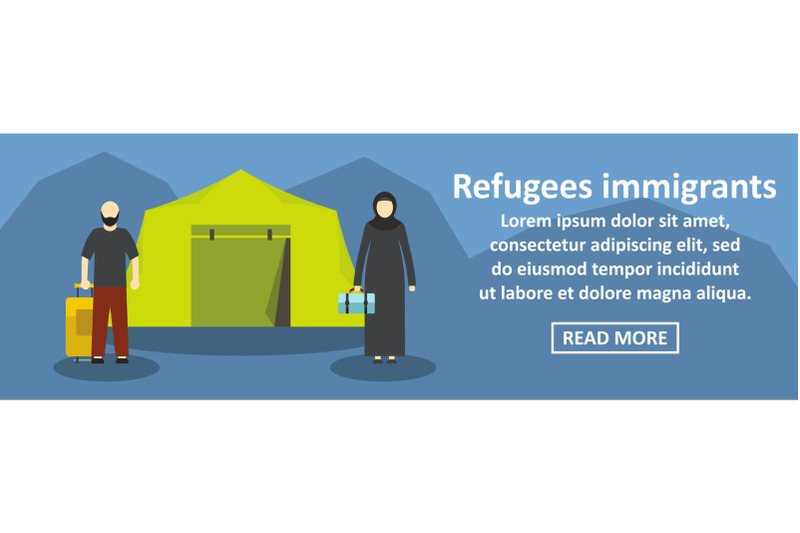 refugees-immigrants-banner-horizontal-concept