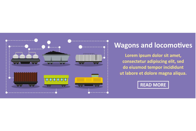wagons-and-locomotives-banner-horizontal-concept