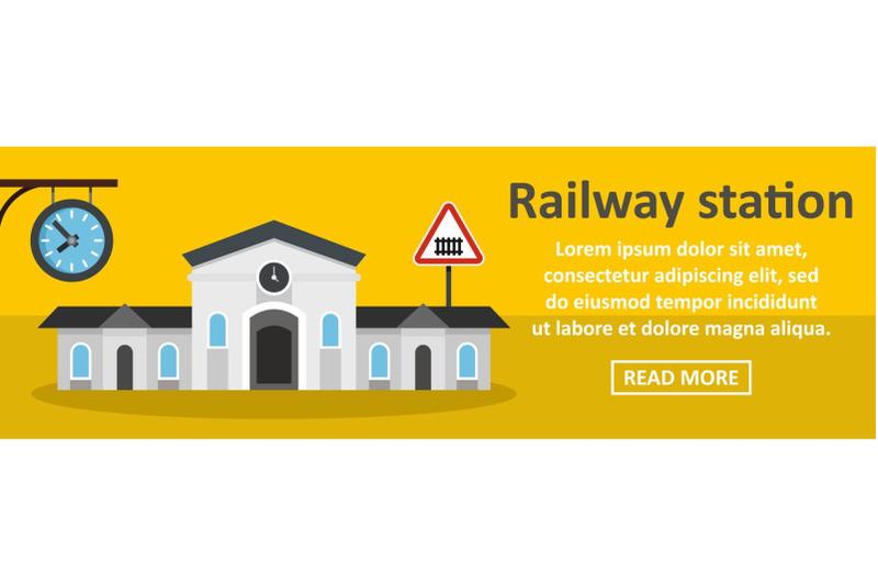 railway-station-banner-horizontal-concept
