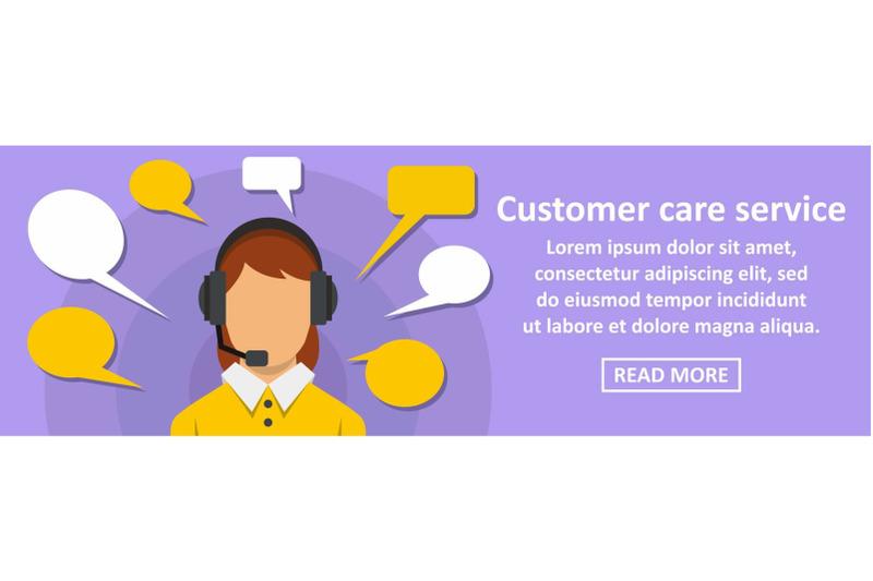 customer-care-service-banner-horizontal-concept