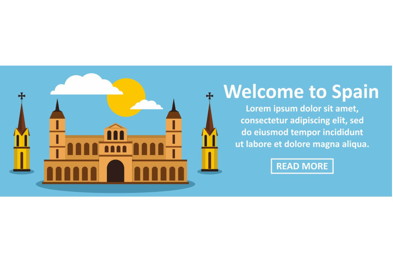 welcome-to-spain-banner-horizontal-concept
