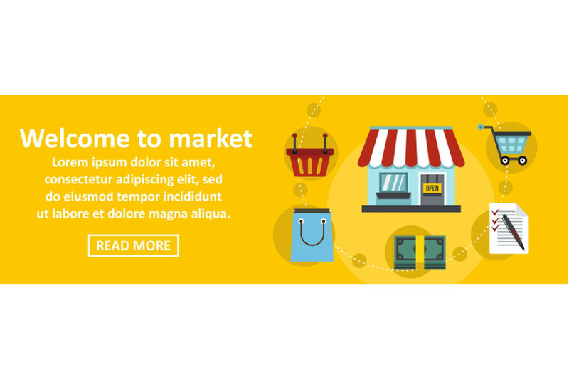 welcome-to-market-banner-horizontal-concept