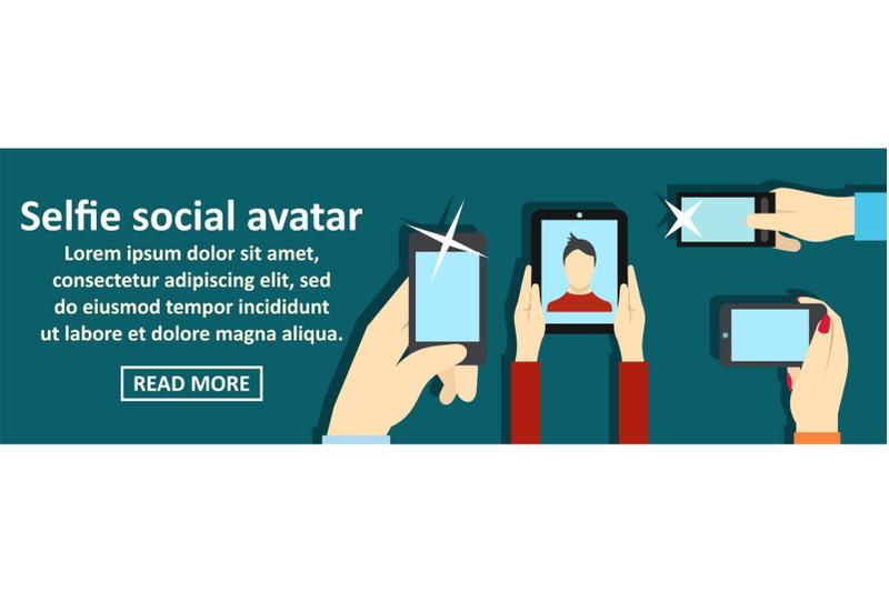 selfie-social-avatar-banner-horizontal-concept