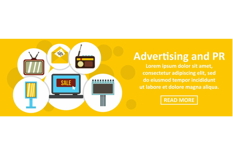 advertising-and-pr-banner-horizontal-concept