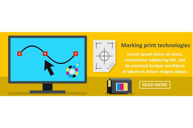marking-print-technologies-banner-horizontal-concept