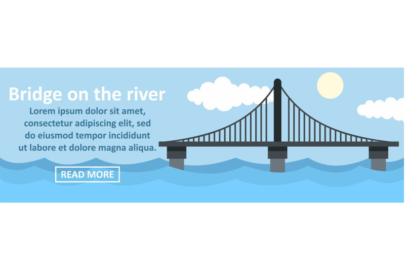 bridge-on-the-river-banner-horizontal-concept