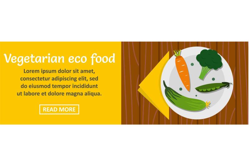 vegetarian-eco-food-banner-horizontal-concept