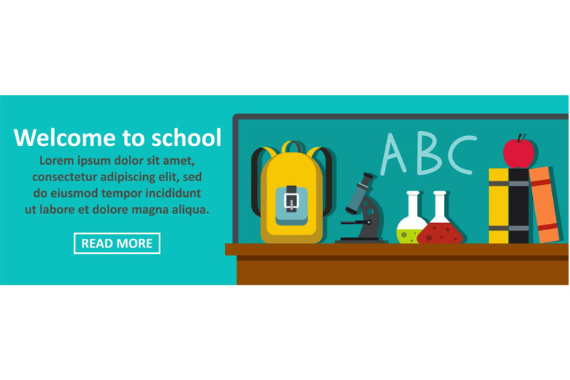 welcome-to-school-banner-horizontal-concept