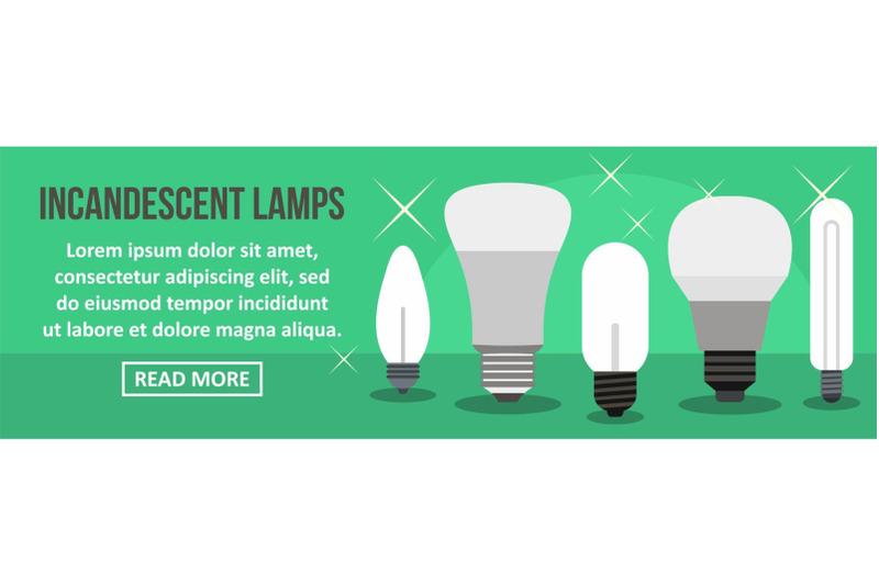 incandescent-lamps-banner-horizontal-concept