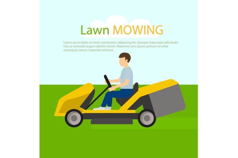 tractor-lawn-mowing-concept-background-flat-style