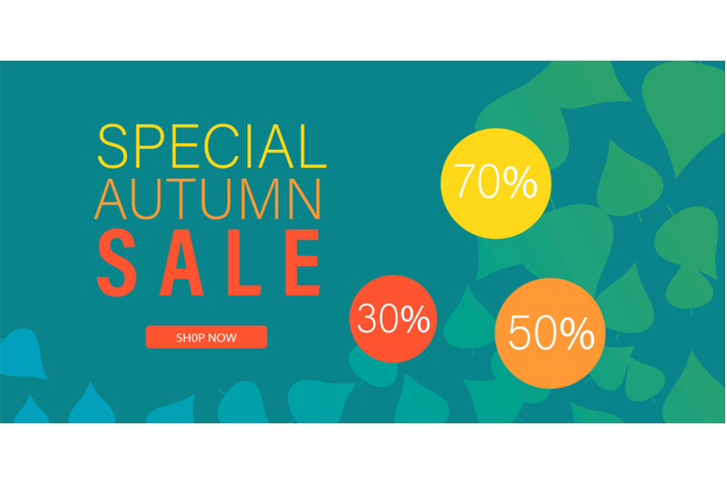 special-autumn-sale-banner-horizontal-flat-style