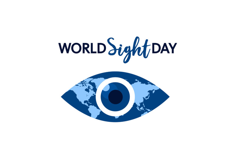world-sight-day-concept-background-flat-style