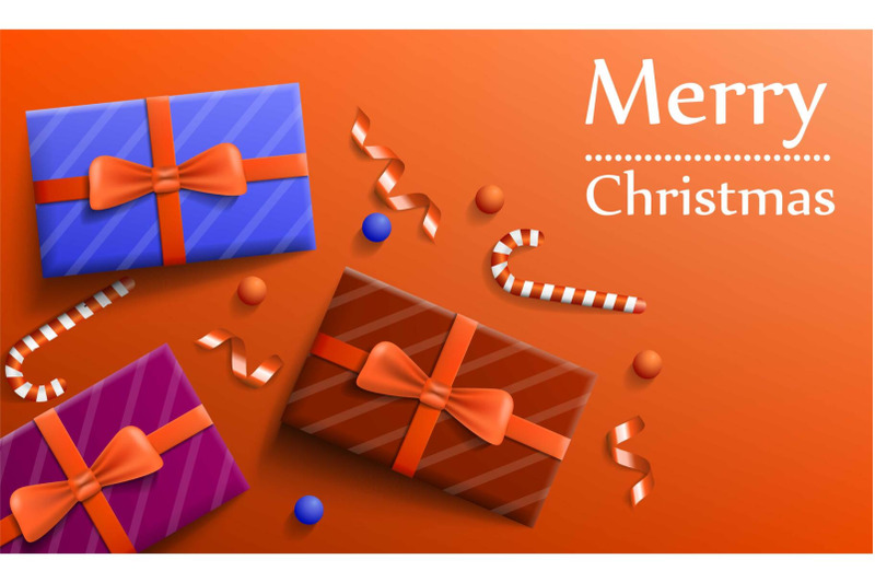 merry-christmas-gift-concept-banner-realistic-style