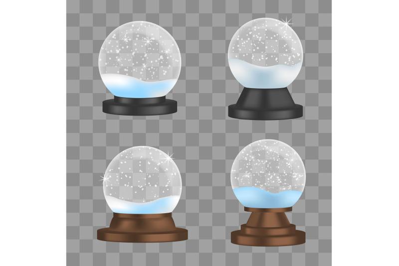 snowglobe-icons-set-realistic-style