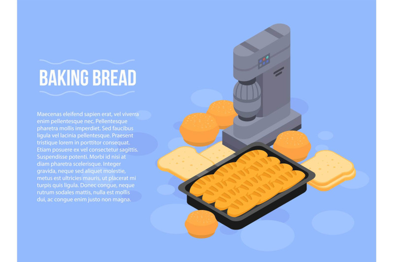 baking-bread-concept-banner-isometric-style