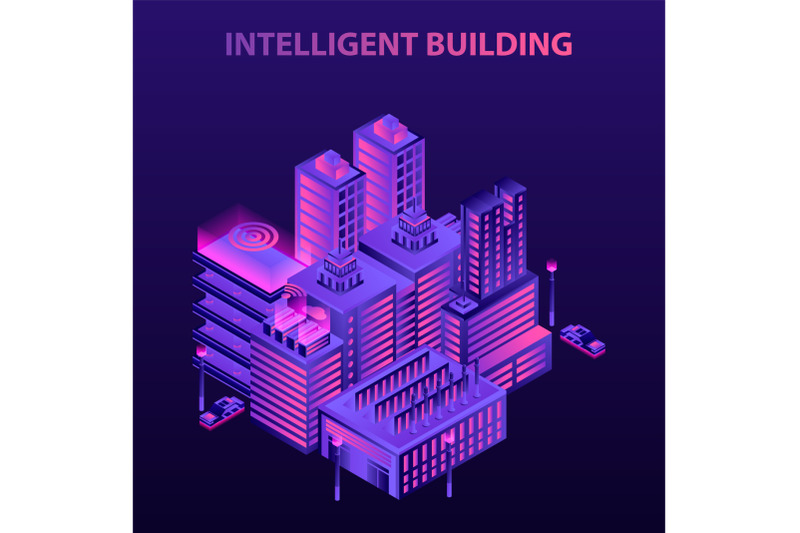 intelligent-building-concept-background-isometric-style