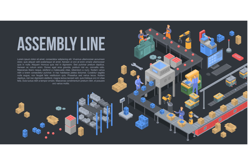assembly-line-factory-concept-background-isometric-style