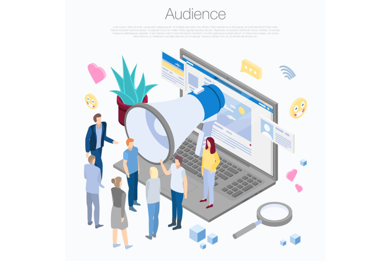 audience-concept-background-isometric-style