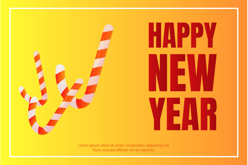 happy-new-year-candy-stick-concept-background-isometric-style