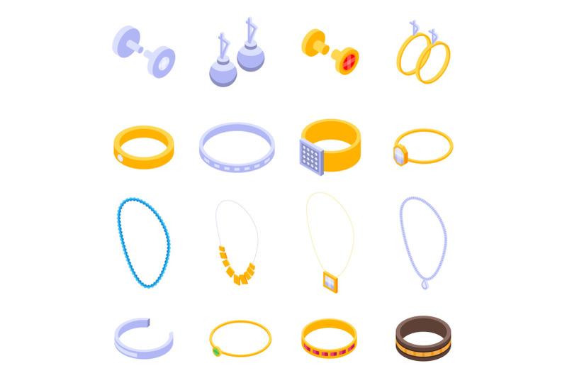 jewellery-icons-set-isometric-style