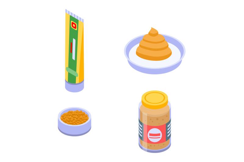 mustard-icons-set-isometric-style