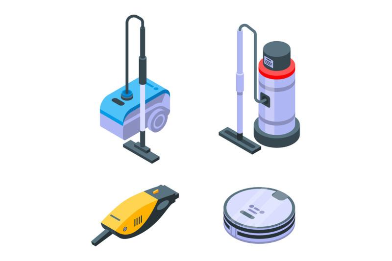 vacuum-cleaner-icons-set-isometric-style