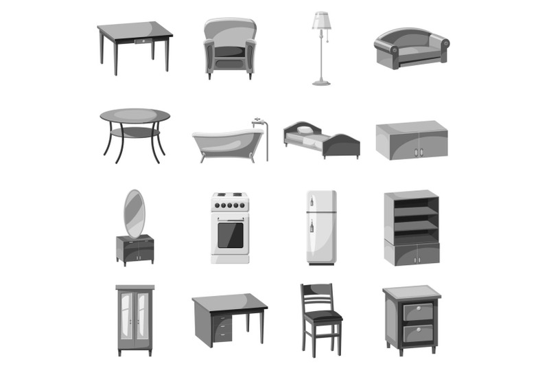 furniture-and-household-appliances-icons-set