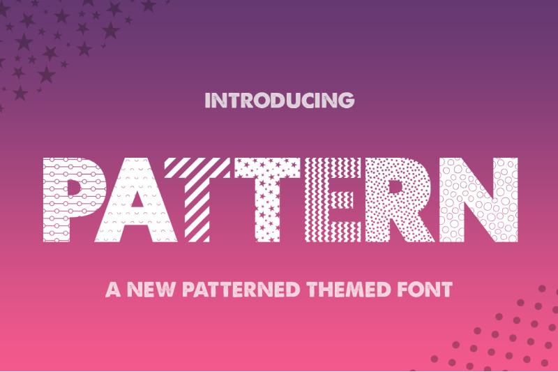 pattern-silhouette-font