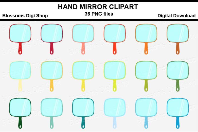 hand-mirror-sticker-clipart-36-files-multi-colours